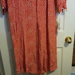 Frank Young Dresses - Red polka dot dress